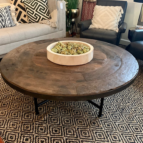 Wood wheel coffee table-Special order