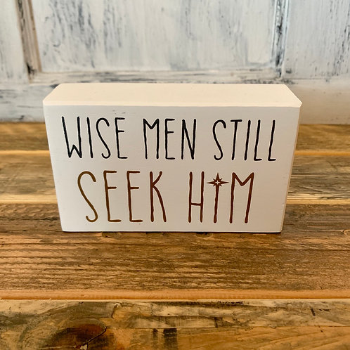 Wise men box sign