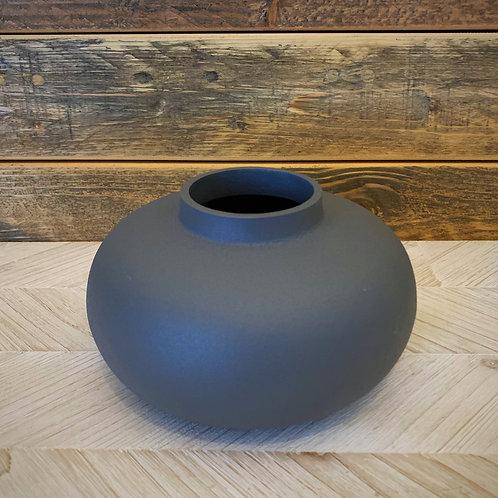 Gray matte vase
