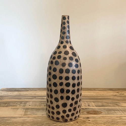 Clay lenca cheetah vessel -17in