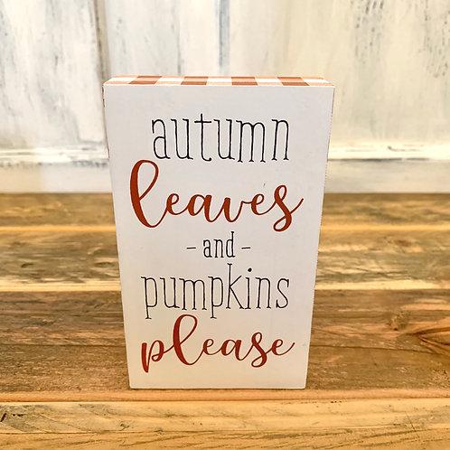 Autum leaves sign