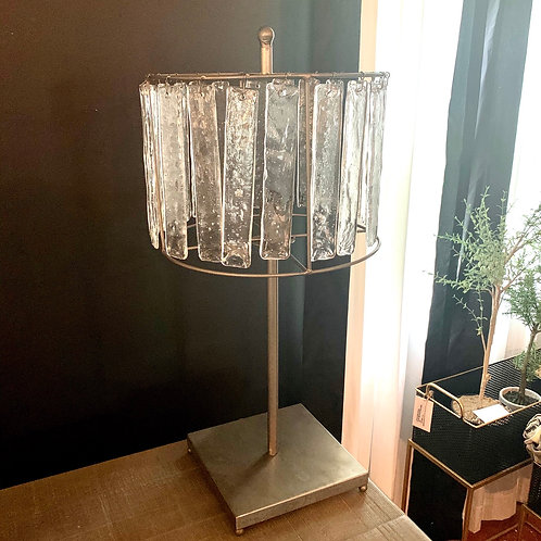 Glass chimes metal table lamp