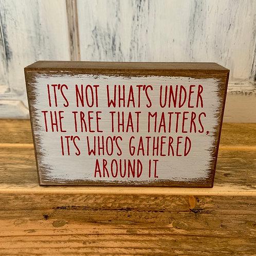 Under tree sign