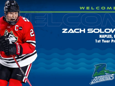 Florida's Zach Solow Signs With Everblades!