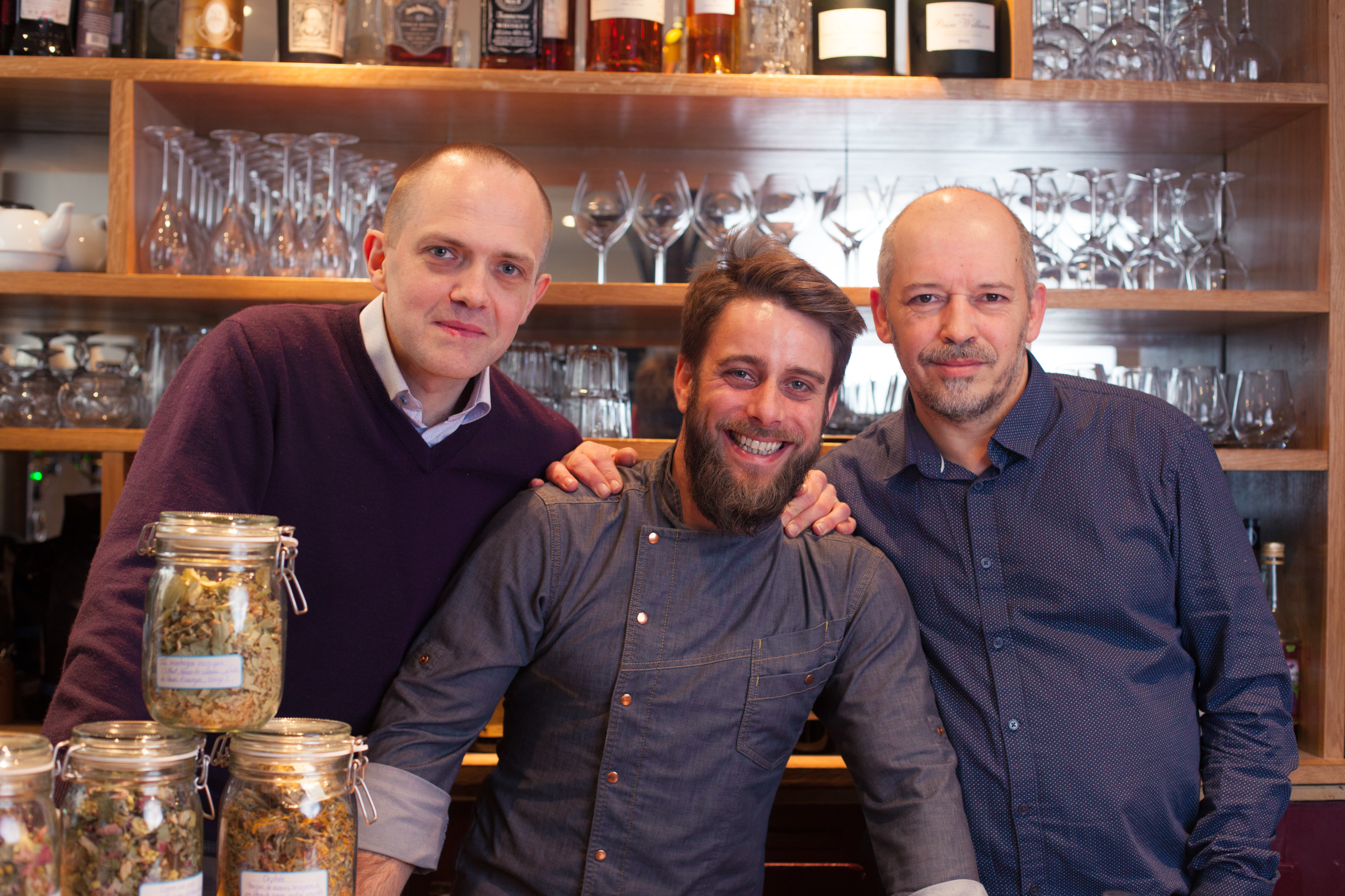 Patrice, Damien et Philippe