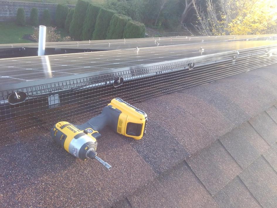 Solar panel exclusion
