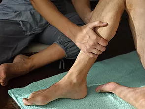 Physical therapy on leg.webp