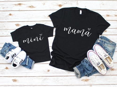 Matching mama + mini - Black - Adult - Youth - Toddler