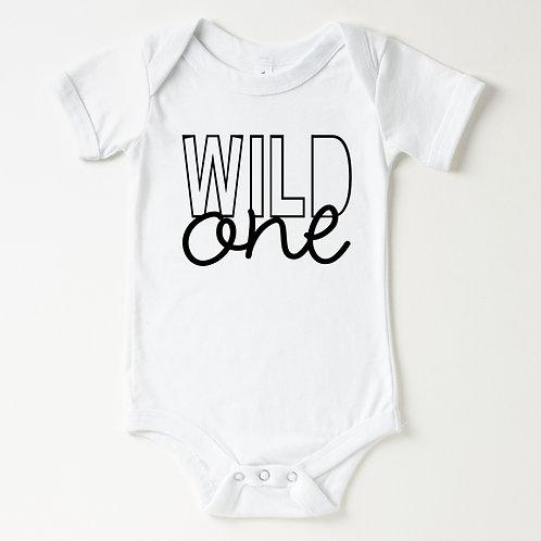 WILD ONE - White - Infant Unisex Onesie