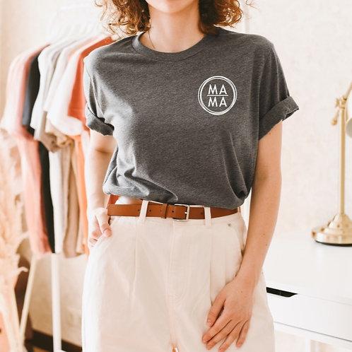 M A M A mini - (Personalize) - Grey - Unisex Crewneck T-Shirt