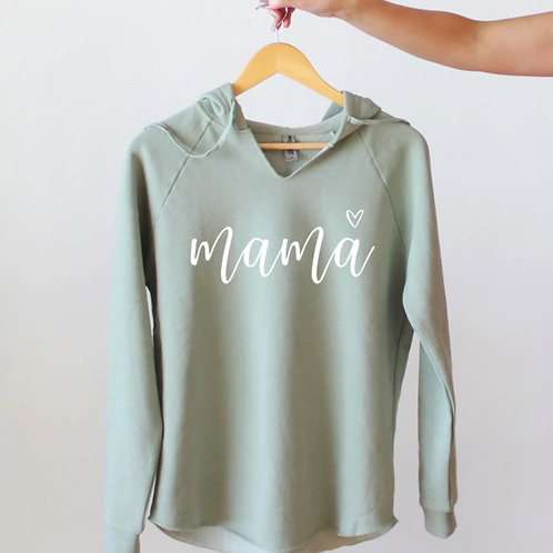 m a m a - LUXE Hooded Pullover - Seafoam