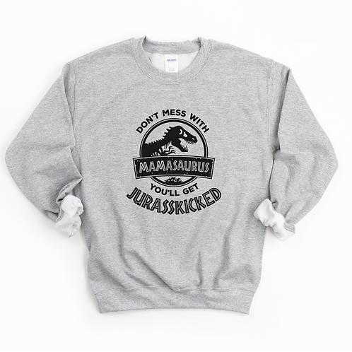 MAMASAURUS - Grey - Unisex Crewneck Sweatshirt