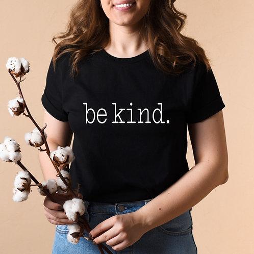 BE KIND - Black - Adult Unisex Crewneck T-Shirt