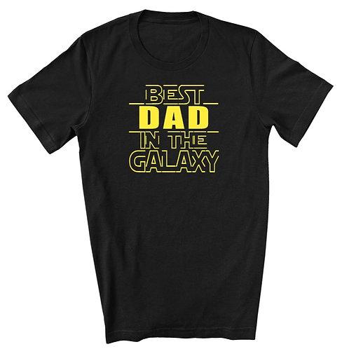 BEST DAD IN THE GALAXY - Black - Crewneck T-Shirt