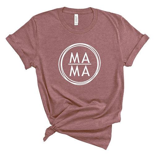 M A M A - (Personalize) - Mauve - *Premium - Crewneck T-Shirt