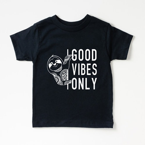 GOOD VIBES ONLY - Black - Toddler - Youth - Unisex T-Shirt