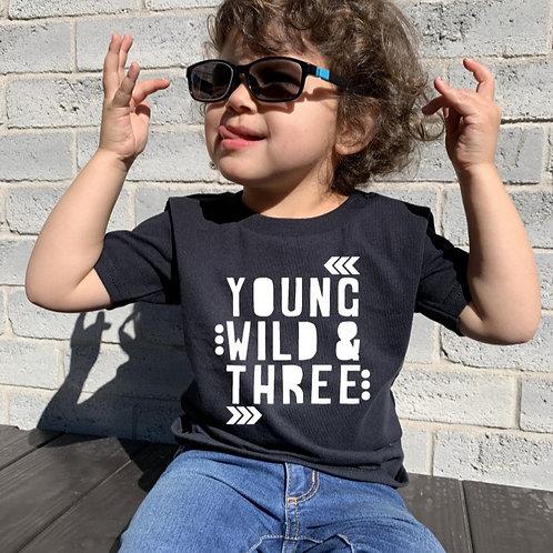 YOUNG WILD & THREE - Black - Unisex Toddler T-Shirt