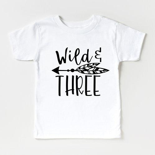 WILD & THREE - White - Unisex Toddler T-Shirt