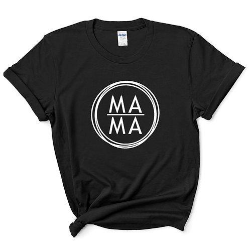 M A M A - (Personalize) - Black - Crewneck T-Shirt