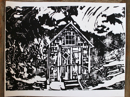 Hand Carved Woodblock Print