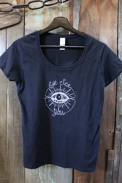 Women's Scoop Neck Eye Sea You T-shirt