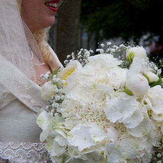 White Peony, Hydrangea and Rose bouquet