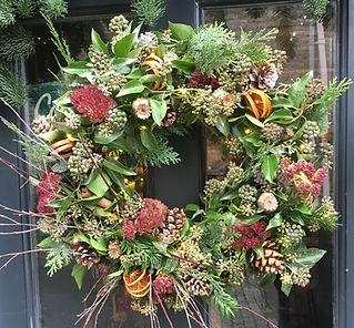 Seasonal Wreath Oranges & Pine Cones