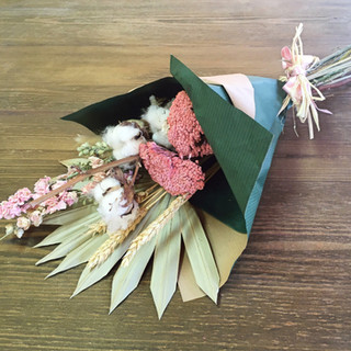 Dried flower selection bouquet