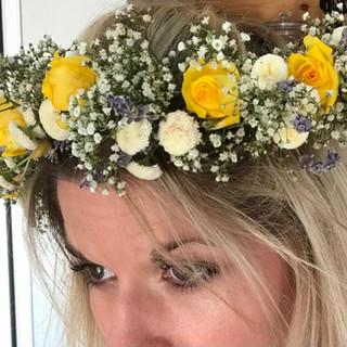 Yellow Rose Bridal Flower Crown