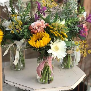 September Sunflower Posy Pots