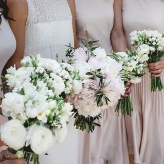 Bride and Bridesmaid Peony bouquets