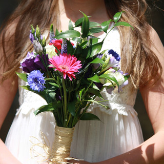Small Hand Tied Flower Girl bouquet