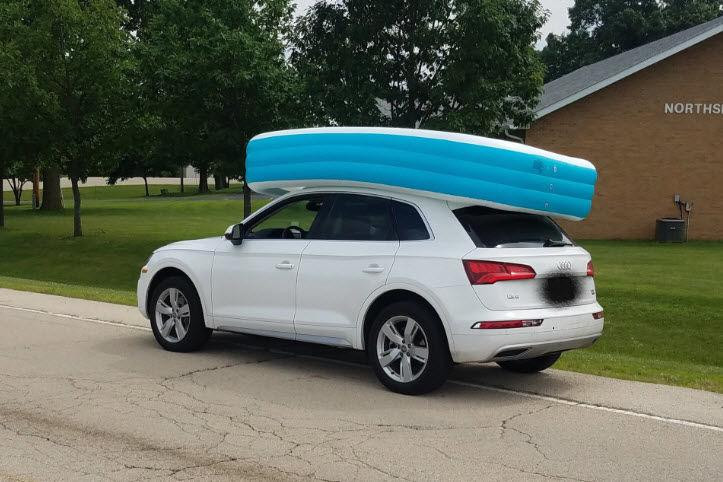Mom Arrested for Letting Kids Ride on Roof of SUV in an Inflatable Pool