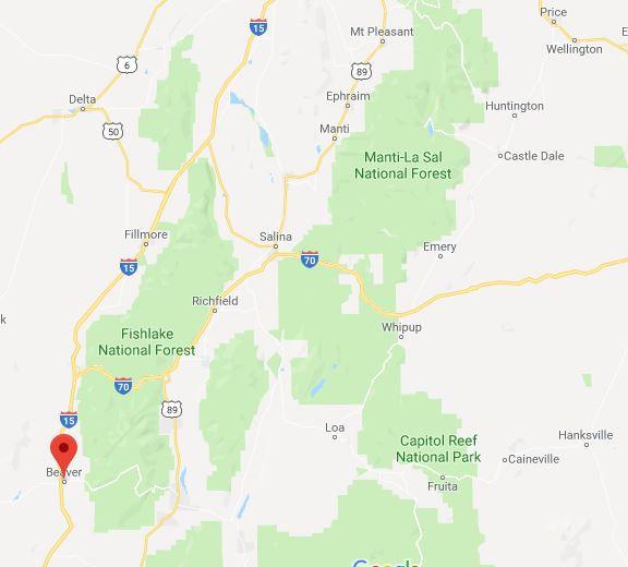 Drone Footage of Beaver, Utah UFO