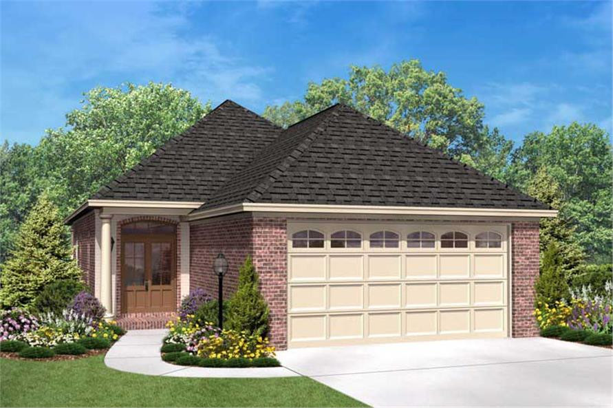 small house with garage