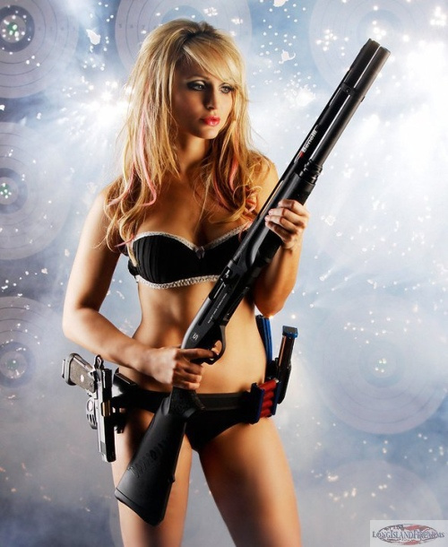 sexy girl with gun