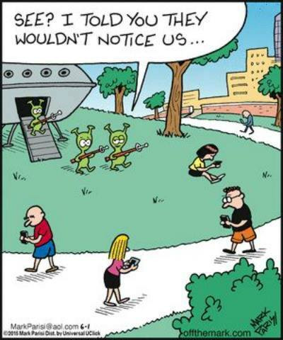 UFO and Alien Memes and Cartoons