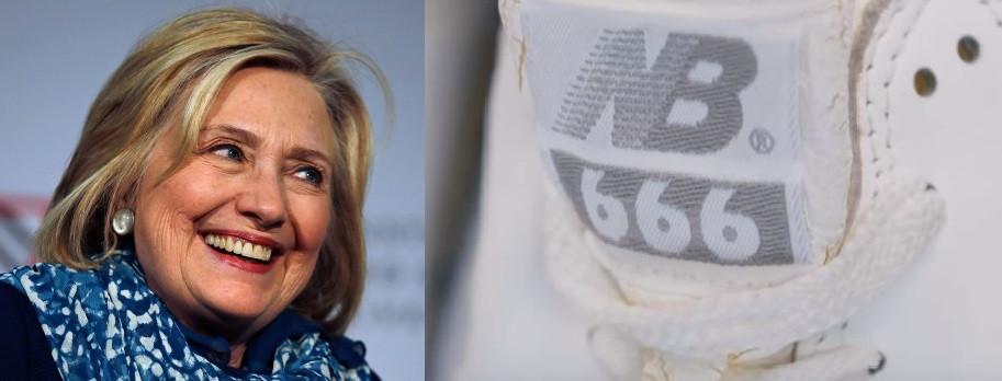"""Satanic"" Hillary Clinton New Balances"