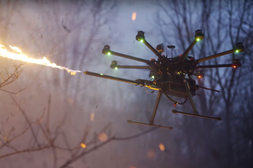Flame Throwing Drones Are Here