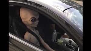 alien pulled over speeding