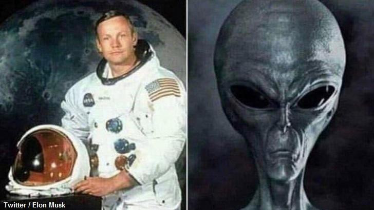 Elon Musk Tweets Alien Meme