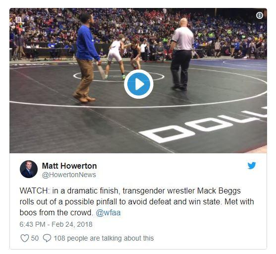 Transgender boy wins girls' state wrestling title for second time