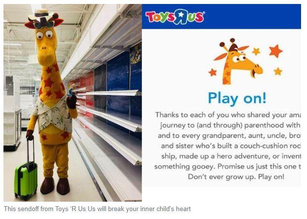 Toys 'R Us Says Goodbye