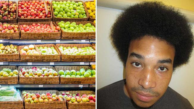 Man rubbed produce on bare behind, then put it back on store shelf