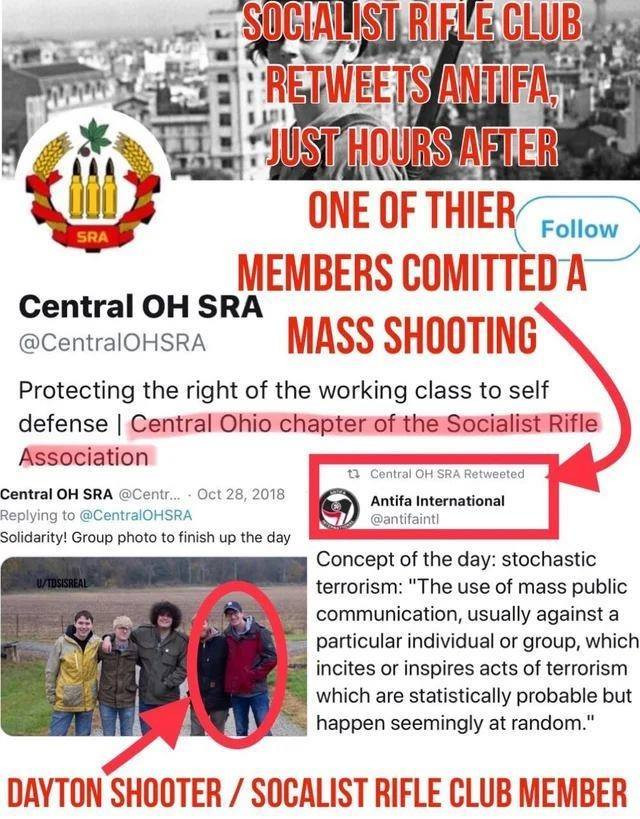 Ohio shooter with his ANTIFA Club