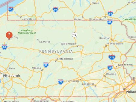 Oil City, Pennsylvania UFO Sighting