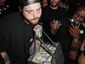 Post Malone Makes It Rain at Miami Club