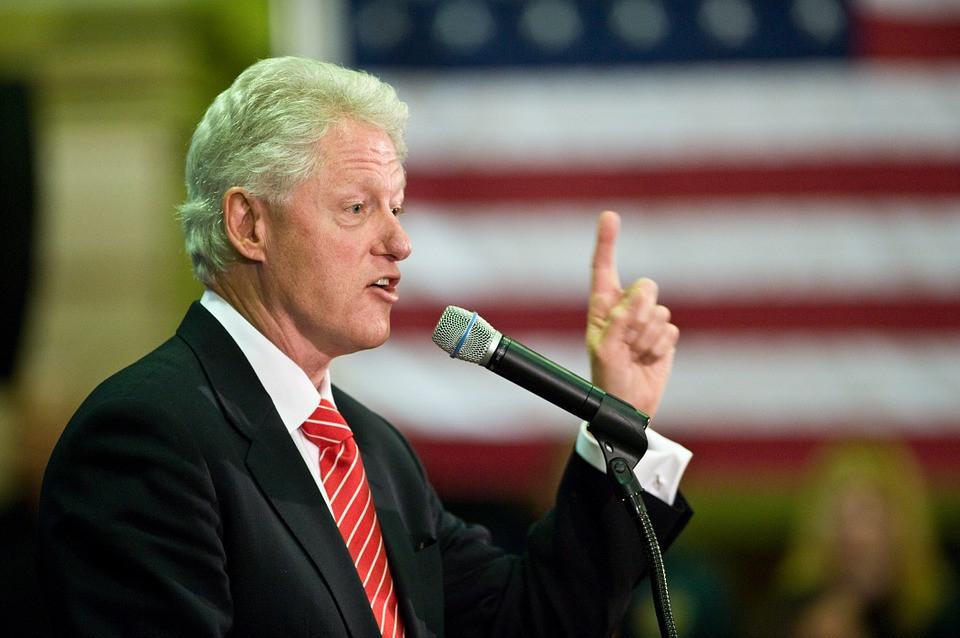 Weird Pic of Bill Clinton Getting a Massage