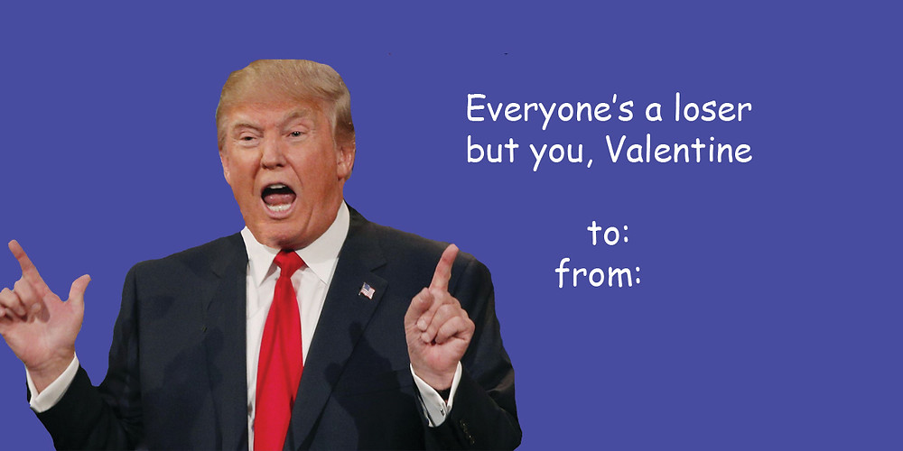 Donald Trump Valentine Cards