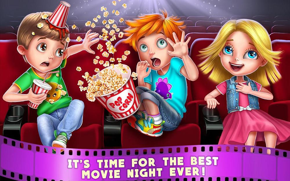 kids in movie theater